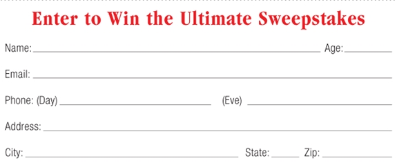 picture of old sweepstakes form