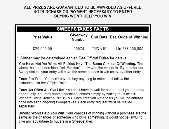 PCH Sweepstakes and Publishers Clear House Sweepstakes - Sweepstakes