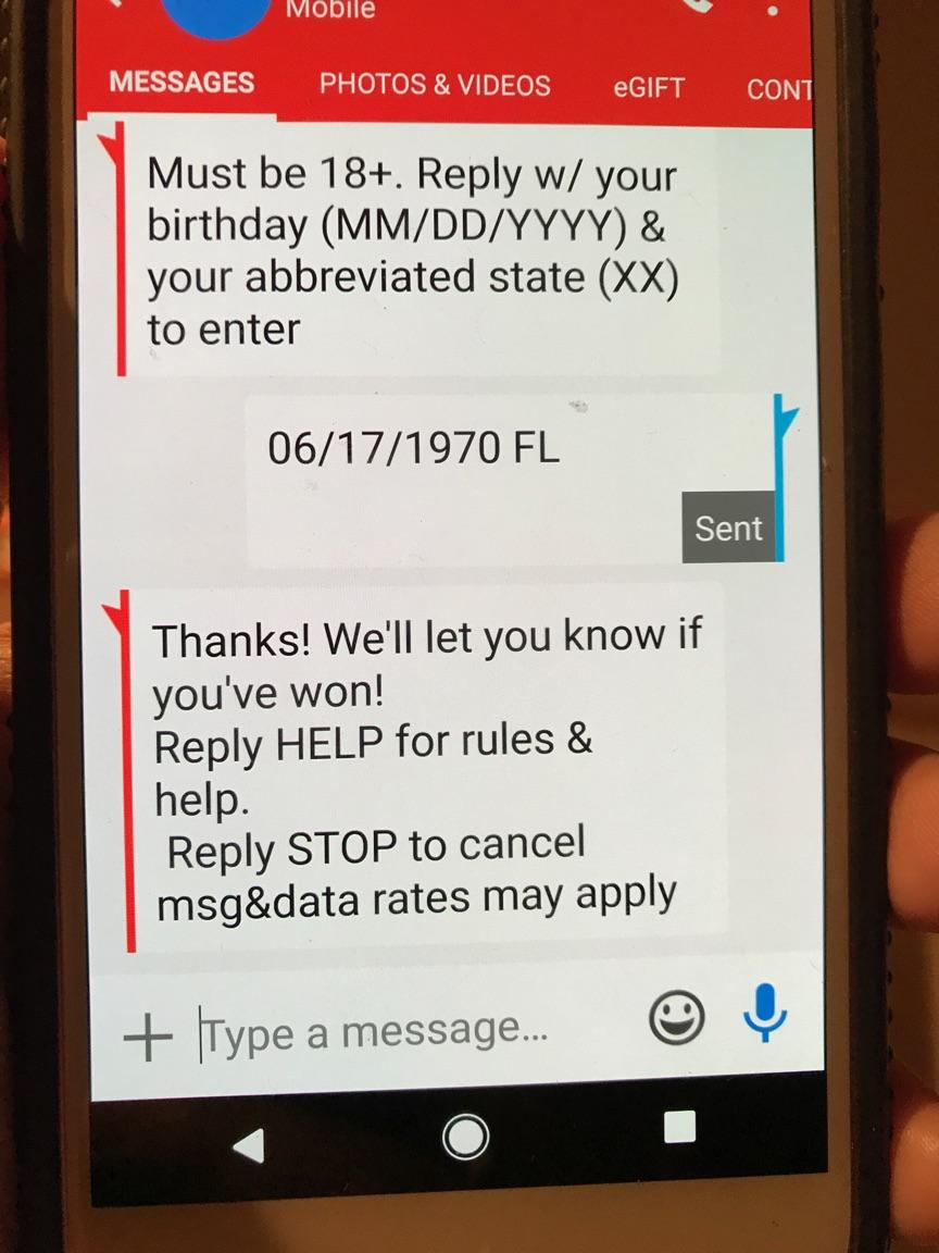 Text Entry Sweepstakes Are The Buzz