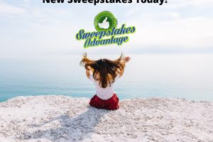 girl holding new sweepstakes